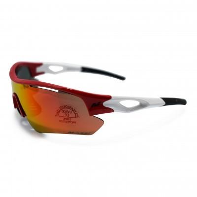 Oculos Massi Saga Branco/Vermelho
