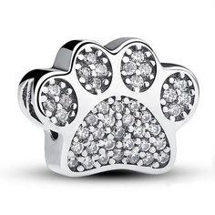 Conta de prata 925 compatível com pandora (I love my pet)