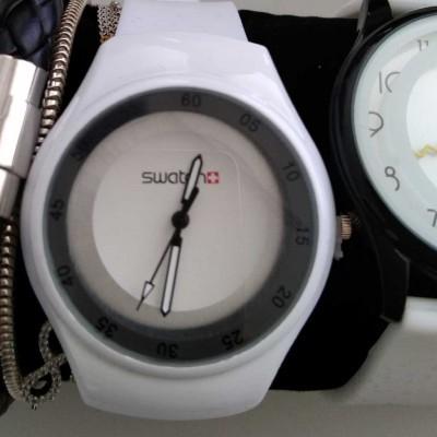 Relógio compatível com swatch branco