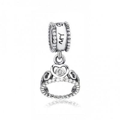 Conta pingente de prata 925 compatível com pandora (My Princess)