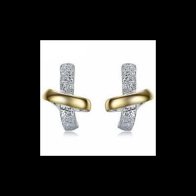 Brincos cor prata e ouro